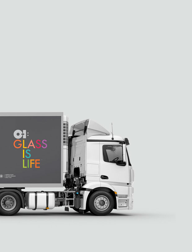 O-I Glass New Zealand trucks