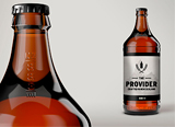 The Provider beer bottle. New Zealand